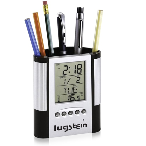 New Tap Light Alarm Clock with Memo and Pen Holder